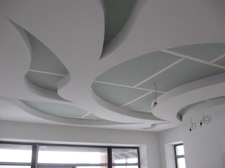 Как делать натяжные потолки из гипсокартона фото