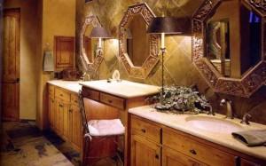 Особенности проведения отделки ванной комнаты в деревянном доме