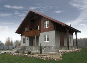 Комбинированные дома: стиль шале на новый лад