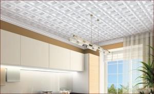 Как монтировать потолочную плитку