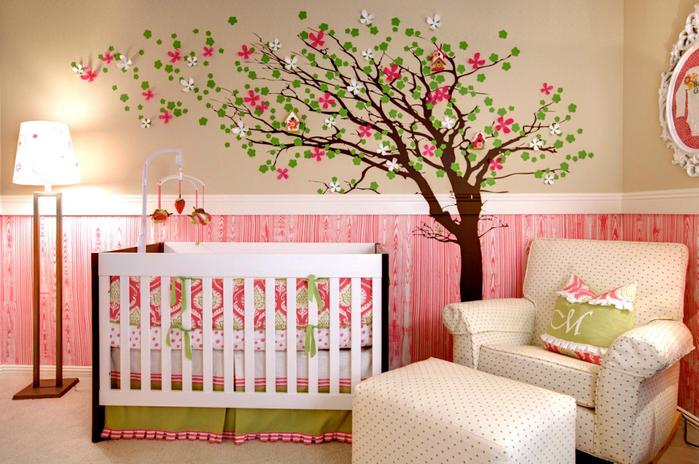 Декор стен в комнате