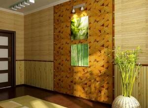 Как наклеить правильно бамбуковые обои?