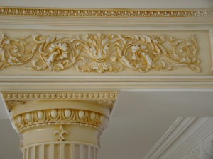 Декорирование  лепниной  современный  интерьер